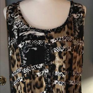 Avenue VIP Knit Black Knit Dress Size 14/16 NWT